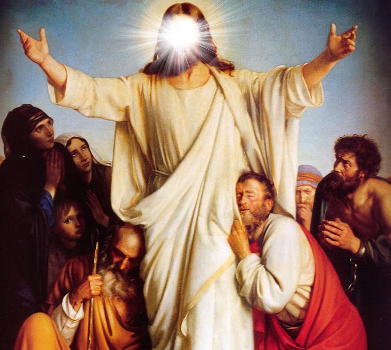 نور خداوند, مسیح, مثنوی محمد کریم خان کرمانی, راه هدایت, حوارییون