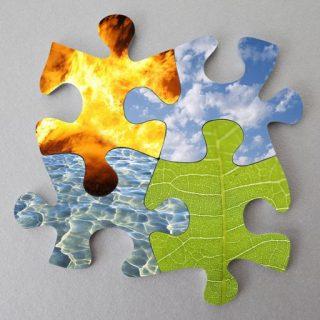 هوا عناصر چهار گانه عناصر اربعه خاک جسم آتش آب